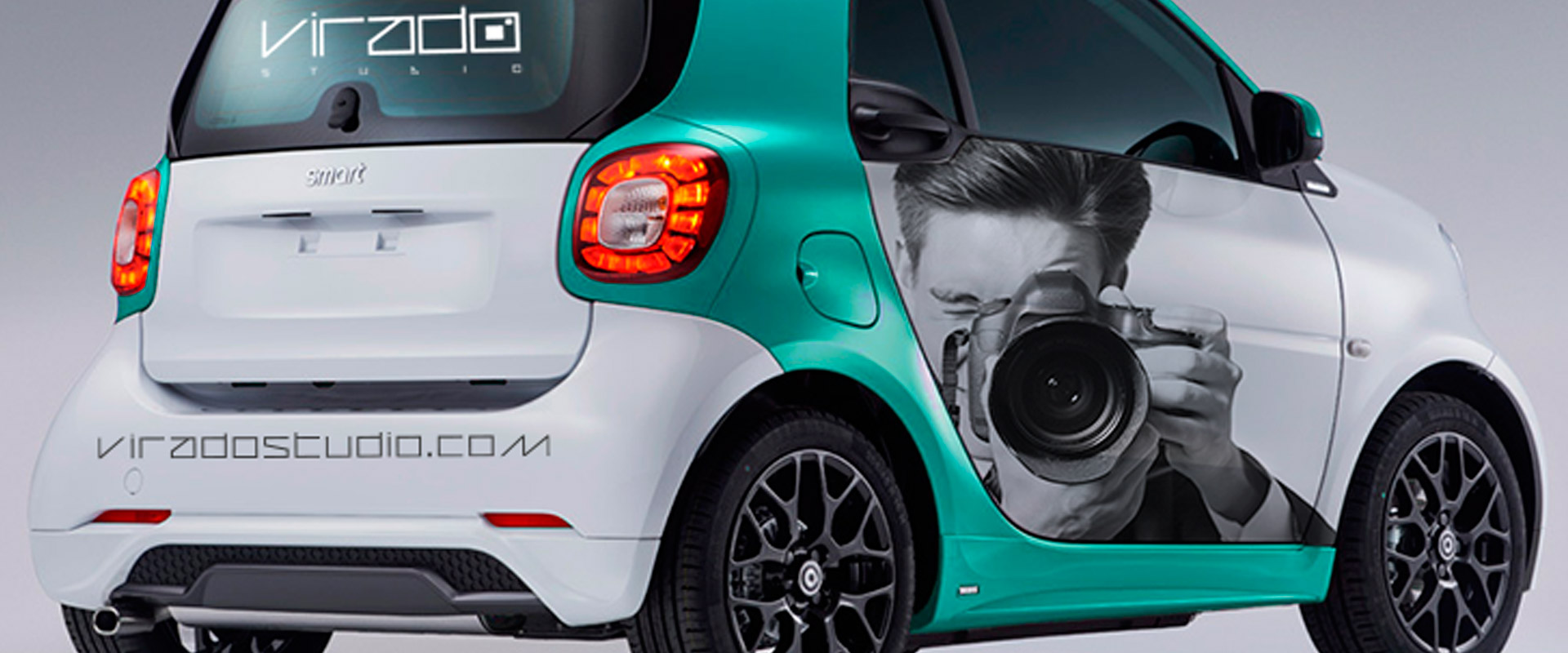 Rotulaci n de coche smart viradostudio prorotul for Rotulacion de vehiculos madrid