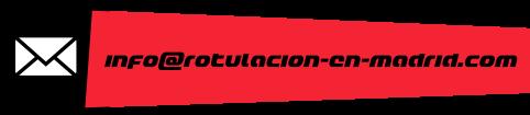 email de empresa de rotulación en Madrid