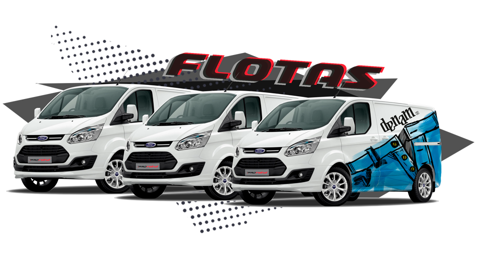 Rotulación de flotas de furgonetas en Madrid