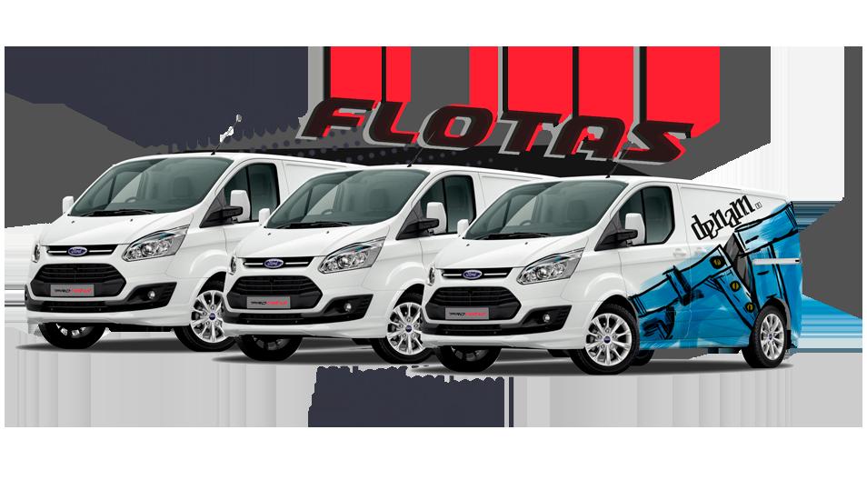 vinilado de flotas de vehículos comerciales en Madrid