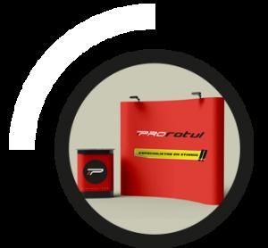 diseño, fabricación y montaje de stands portátiles reutilizables