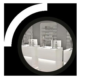 mampara de protección de cristal templado para Farmacias