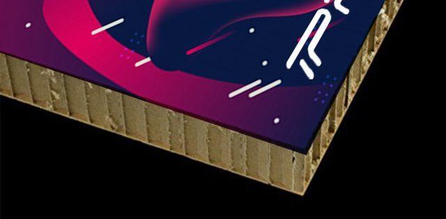 Impresión digital en cartón nido de abeja en Madrid