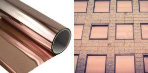 lámina de protección solar 72% Metalic Bronce.