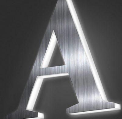 rótulos y letras corpóreas de Acero y metacrilato iluminado en Madrid