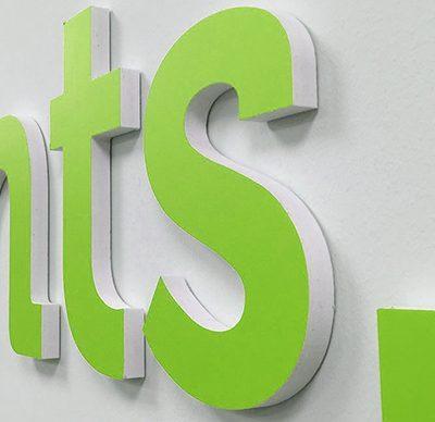 rótulos y letras corpóreas de Forex PVC en Madrid
