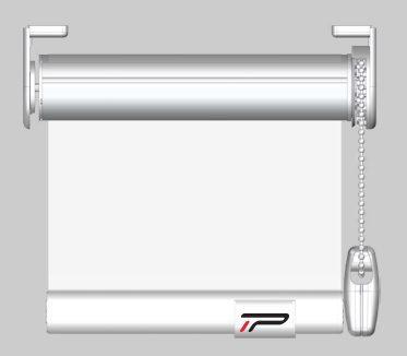 Pantalla transparente PVC enrollable cadena