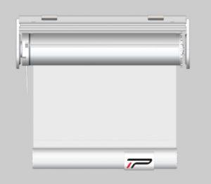 Pantalla transparente PVC enrollable motor perfil