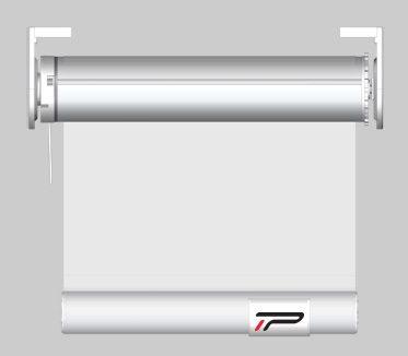 Pantalla transparente PVC enrollable con motor