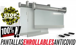 pantallas enrollables anticontagio Coronavirus