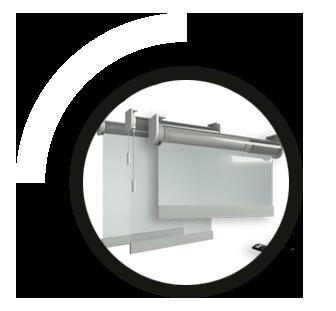 pantalla de seguridad de PVC anticontagio Coronavirus enrollable
