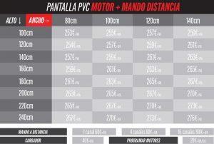 precios de pantallas PVC anticontagio con motor