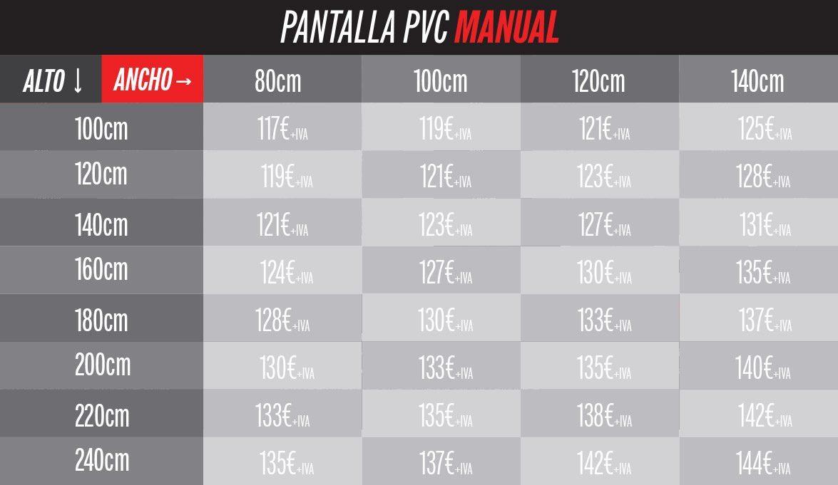 precios de pantallas PVC anticontagio manual