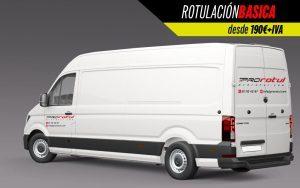 rotulación básica furgoneta gran volumen