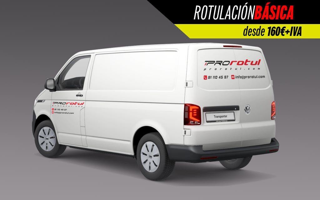 Rotulación Básica furgoneta