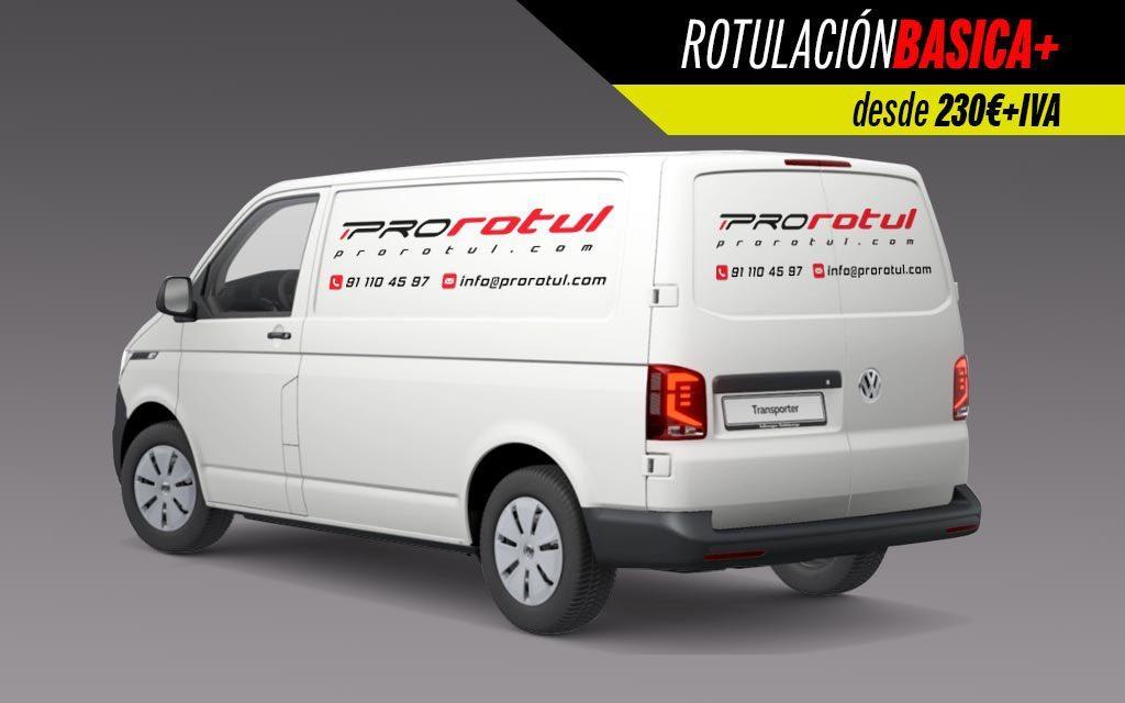 Rotulación Básica plus furgoneta