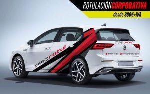 rotulación corporativa coche