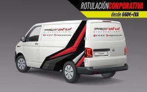 Rotulación corporativa furgoneta