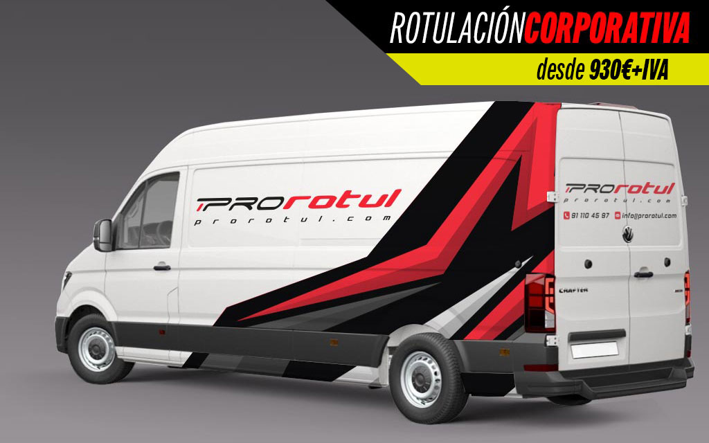 rotulación corporativa furgoneta gran volumen